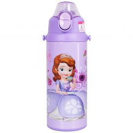DISNEY HM-3208S Stainless Steel Water with Straps Bottle 500ml - Purple