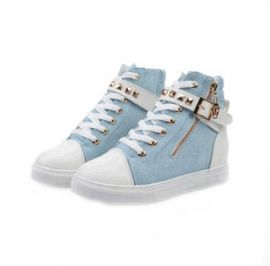 NORTHERN GOODIES High Neck Sneakers - Blue Jeans