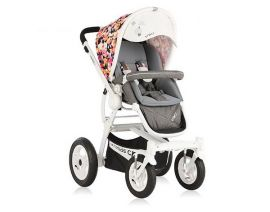 VIKI Vigorkids Baby Stroller with Color Pattern Print - Grey