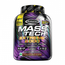 MUSCLETECH  Mass-tech Extreme 2000 Triple Chocolate Brownie - 6lbs (5 servings)