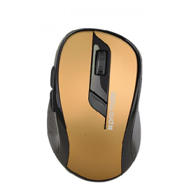 PROMATE Universal Wireless Mouse with Side Scroller Buttons and 3 Adjustable DPI levels, Gold