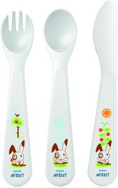 PHILIPS Avent Toddler Cutlery Set for Independent Eating 3 Pieces