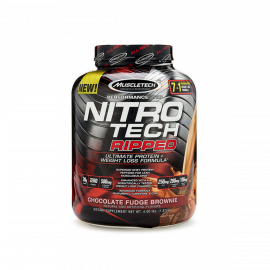 MUSCLE TECH Nitro Tech Ripped 4lbs Chocolate Fudge Brownie