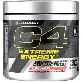 CELLUCOR C4 Extreme Energy Pre-Workout Powder - Cherry Limeade (30 Servings)