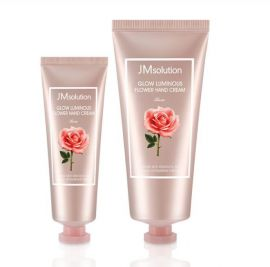 JM SOLUTION Glow Luminous Flower Hand Cream Set - Rose, 50ml & 100ml