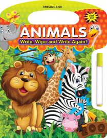 DREAMLAND BOOK Write, Wipe & Write Again - Animals