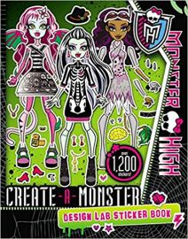 MONSTER HIGH Create-A-monster Design Lab Sticker Book