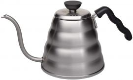 "HARIO V60 Drip Kettle ""Buono"" 120, Hairline Silver"