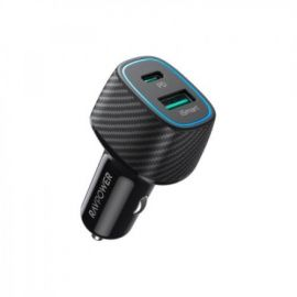 RAVPOWER RP-VC019 48W 2-Port PD+QC3.0 Car Charger - Black