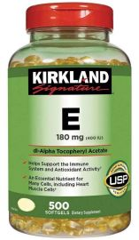 KIRKLAND Signature Vitamin E 180mg, 500 Softgels