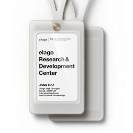 ELAGO iD2 ID Card Holder - Frosted white