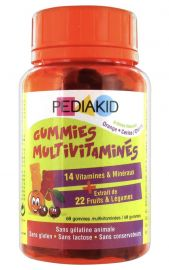 PEDIAKID Gummies Multivitaminés - 60 Gummies