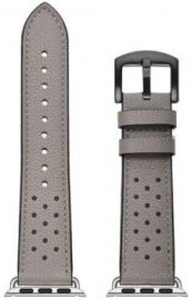 JINYA Vogue Leather Band for Apple Watch 44mm, 42mm - Grey with Black Dot