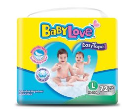 BABYLOVE EasyTape Baby Diaper L 72 Pieces