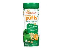 HAPPY BABY Organic Superfood Puffs Kale & Spinach 60g