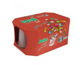 JELE Light Freshy Lychee with Jelly Carrageenan Pack 125g 6 Pieces