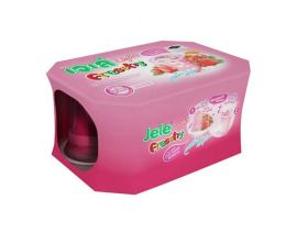 JELE Light Freshy Strawberry with Jelly Carrageenan Pack 125g 6 Pieces