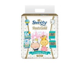 SWEETY Pantz Gold Baby Diaper Pant M 60 Pieces