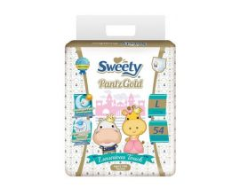 SWEETY Pantz Gold Baby Diaper Pant L 54 Pieces