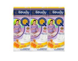 ANMUM UHT Honey Flavor Milk for Pregnant Woman Pack 180ml 3 Pieces