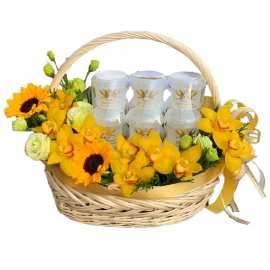 KING GOLDEN  Bird's Nest Basket ( 15 Bottles Of 280ml )
