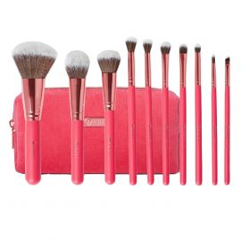 BH COSMETICS Bomshell Beauty Brush Set With Bag 10 Pieces