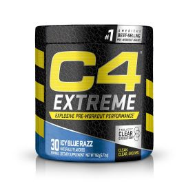 CELLUCOR C4 Extreme Pre-Workout Dietary Supplement Icy Blue Razz - 30 Servings