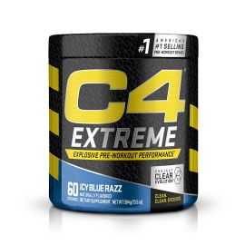 CELLUCOR C4 Extreme Pre-Workout Dietary Supplement Icy Blue Razz- 60 Servings