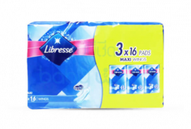 LIBRESSE Maxi Wings - 3×16 Pads