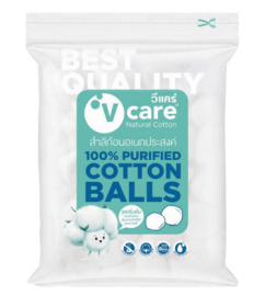V CARE 100% Purified Cotton Balls