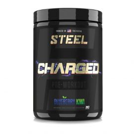 STEEL Charged-AF Strong Energy & Focus Pre-Workout - Blueberry Kiwi