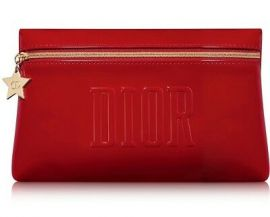 DIOR Cosmetic Pouch - Red