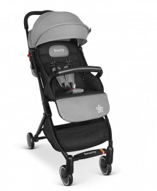 BESREY Lightweight Compact Baby Stroller with Reclining Backrest for Airplane BR-C711S - Grey