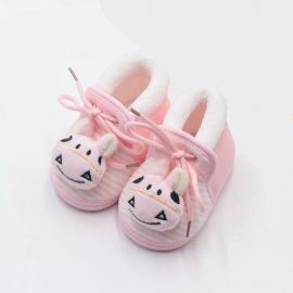 DULABEIBEI First Walker Baby Cotton Shoes Mouse Cartoon - Pink