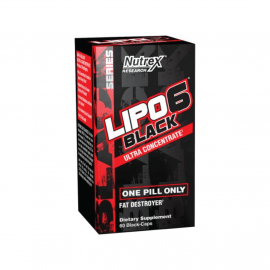 NUTREX Lipo-6 Black Ultra Concentrate Fast Destroyer - 60 Capsules, 30 Servings