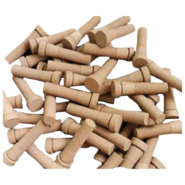 FS Chicken Feather Plucking Rubber, Light Brown, Grade A, Hardness 45 Shore A, Length 4inches - 200 pieces/box