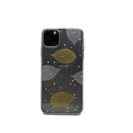iPhone 11 Pro Max Case - Glittery White W/ Yellow Leaf
