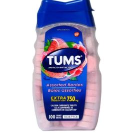 TUMS Antacids Assorted Berries Extra Strength 750mg - 100 Counts