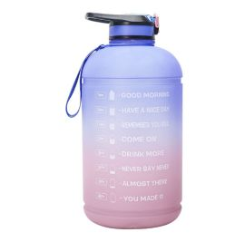 ENTHANOO Gradient Water Bottle with Straw 3.78L - Light Purple & Pink