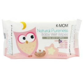 K-MOM Natural Pureness Baby Wet Wipes 100 Pieces