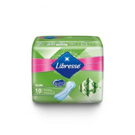 LIBRESSE Slim Non Wings 10 Sheets