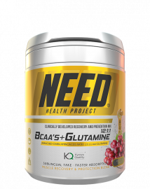 NEED BCAAS and Glutamine Red Grape - 30 Servings