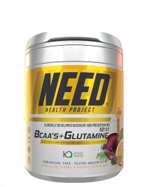 NEED BCAAS and Glutamine Passion Fruit - 30 Servings