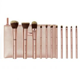 BH COSMETICS Mental Rose Brush Set With Bag 11 Pieces