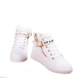 NORTHERN GOODIES High Neck Sneakers - White