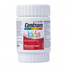 CENTRUM Complete A to Zinc Kids Dietary Supplement Strawberry - 60 Chewable Tablets