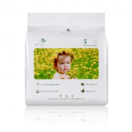 ECO BOOM Bamboo Baby Diaper - S, 90pcs/pack