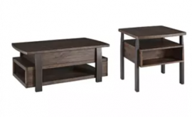 AHSLEY Valibry Lift-Top Cocktail Table and End Table