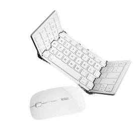 BOW Aviation HB066-ios Apple Special Three-Folding Bluetooth Keyboard with Mouse - White