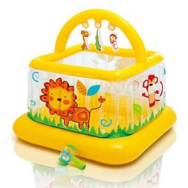 INTEX Soft Sides Little Baby Gym with lion Print 4737 - Yellow
